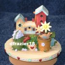 COUNTRY BIRDHOUSE Jar Candle Topper Bird House