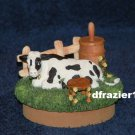 COW Jar Candle Topper Black White Dairy Farm Country Decor