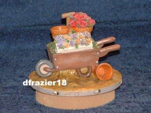 GARDEN WHEELBARROW Jar Candle Topper Wheel Barrow