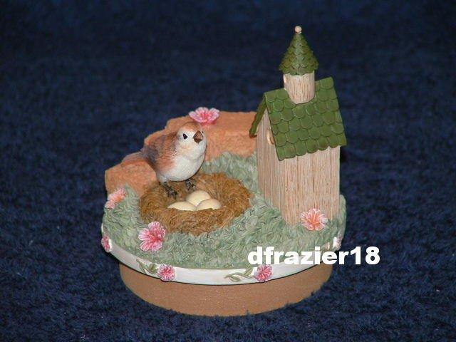 BIRDHOUSE Jar Candle Topper Bird House Nest