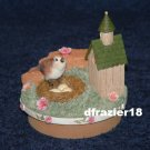 BIRDHOUSE Jar Candle Topper Bird House Nest