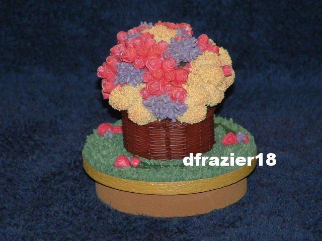 SPRING FLORAL Jar Candle Topper Bouquet Mixed Cut Flowers Theme Decor Decoration