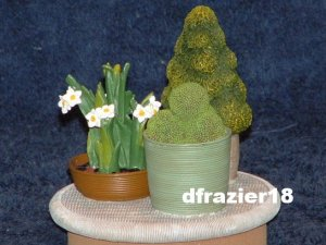 TOPIARY Jar Candle Topper Potted Plants Narcissus Garden Theme Decor Decoration