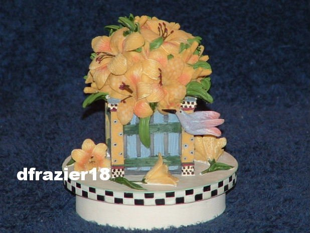 COUNTRY DAY LILIES Jar Candle Topper Debbie Mumm