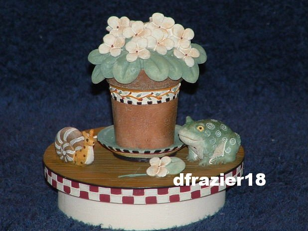 OH HAPPY DAY Jar Candle Topper Debbie Mumm Floral Bouquet