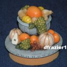ELEGANT FRUIT  Jar Candle Topper Harvest Theme Decor Decoration