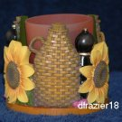 Votive Candle Holder Cuddler Sunflowers TUSCAN