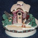 WINTER BIRDS Jar Candle Topper Debbie Mumm