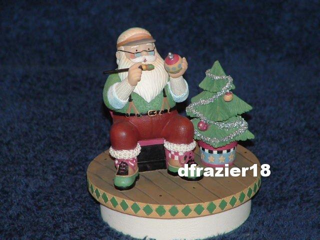 SANTA'S MAGIC TOUCH Jar Candle Topper Debbie Mumm Christmas