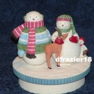 WINTER WONDERS SNOWMAN FAMILY Jar Candle Topper Debbie Mumm