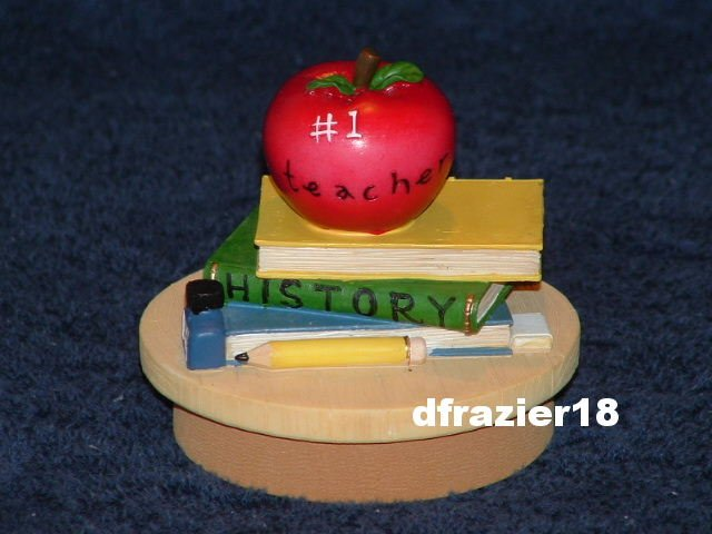 TEACHER Jar Candle Topper School Books Apple Gift Idea Decoration