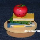 TEACHER Jar Candle Topper School Books Apple Gift Idea Decoration