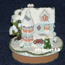 VICTORIAN WINTER HOME Jar Candle Topper House Christmas Holiday
