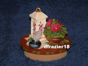 WINTER LANTERN Jar Candle Topper Christmas Holiday Decor