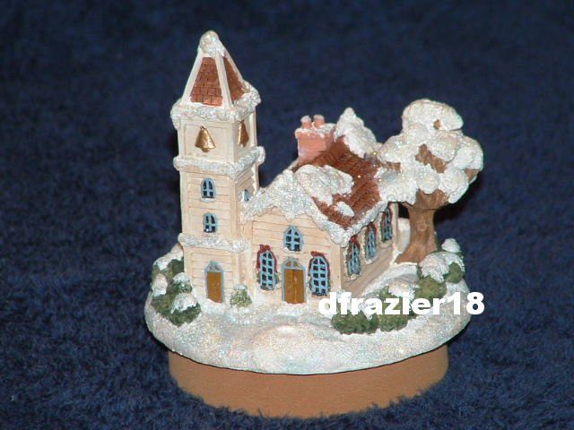 WINTER COUNTRY CHURCH Jar Candle Topper Christmas Holiday