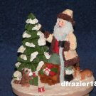 WOODLAND SANTA CLAUS Jar Candle Topper Christmas Winter