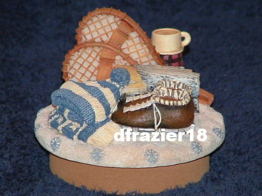 READY FOR SNOW Jar Candle Topper Winter Sports Christmas