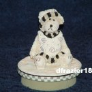 BOY BEAR Jar Candle Topper Miss Heather Plum Pudding