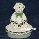 GIRL BEAR Jar Candle Topper Miss Heather Plum Pudding