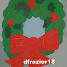 RIBBON WREATH Toland Decorative Garden Flag Large Applique Christmas