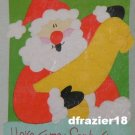 SANTA LIST Toland Decorative Garden Flag Large Applique Christmas
