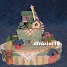 GARDEN CART Jar Candle Topper Hugger Base 2-pc Set