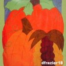 AUTUMN PORTRAIT Toland Decorative Garden Flag Mini Applique Fall Pumpkin