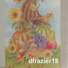 HARVEST CORNUCOPIA Toland Decorative Garden Flag Large Fall Autumn