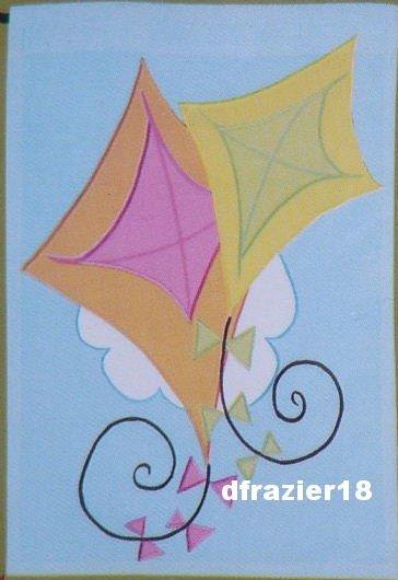 KITE DUET Toland Decorative Garden Flag Mini Applique Kites