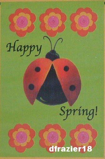 SPRING CHEER LADYBUG Toland Mini Decorative Garden Flag Lady Bug