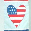 I LOVE AMERICA HEART Toland Decorative Garden Flag Large Patriotic Applique