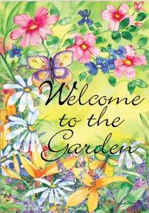 GARDEN WELCOME Toland Decorative Garden Flag Large