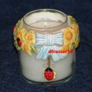 Teenie Candle Topper Bow Ring Stay On Fits Small Jar MINI SUNFLOWER