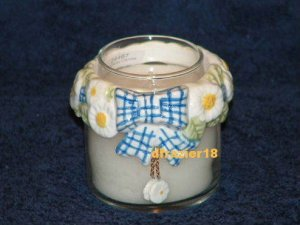 Teenie Candle Topper Bow Ring Stay On Fits Small Jar MINI DAISY