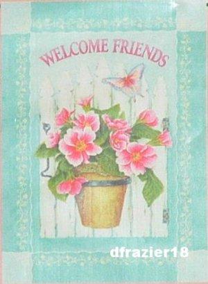 Spring Garden Flag Decorative Small Size Mini Welcome Friends PRIMROSE GATE