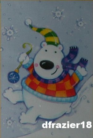 POLAR BEAR FUN Toland Decorative Garden Flag Mini Small Size Winter