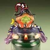 Teenie Candle Topper Halloween Hug Hugs Hugger Stay On Fits Small Jar MINI WITCH