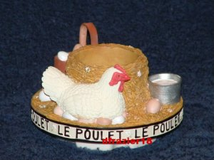 Stay On Top Jar Candle Topper Capper FRENCH HEN