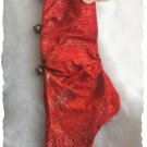 OOAK Prim stocking. Red. Stained with Coffee and vanilla. Baked