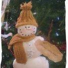 Smiling prim Christmas Winter Snowman OOAK handmade
