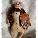 OOAK Primitive handmade snowman Holiday Christmas Folk Art