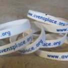 White Plastic support Wrist Bands
