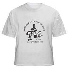 Adult White T-Shirt Cross Logo  S-XL