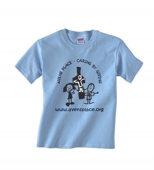 Youth Light Blue -Shirt Cross Logo S-XL