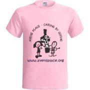 Adult Light Pink T-Shirt Cross Logo S-XL