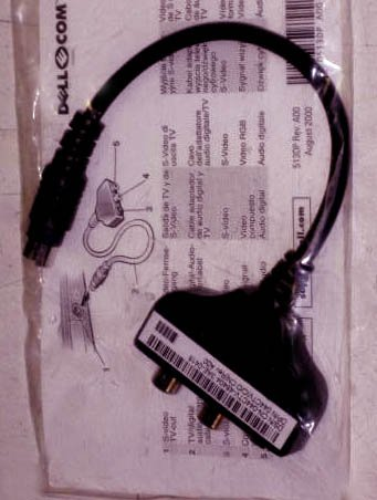044CTV  070TVD  DELL S-VIDEO CABLE for Inspiron
