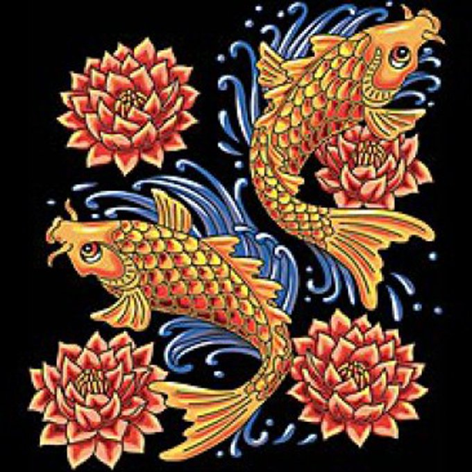Koi fish cross stitch pattern l k for Koi fish retailers