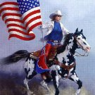 Rodeo Flag Paint Horse Cross Stitch Pattern***L@@K***