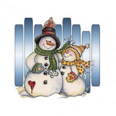 Snowman Pair Cross Stitch Pattern***L@@K***