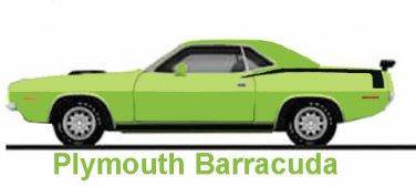 Plymouth Barracuda 1970 Cuda Cross Stitch Pattern***L@@K**